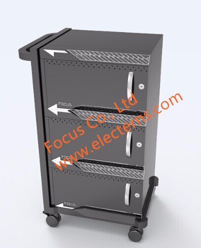 Steel tablet/ ipad 48 outlets charging cart for E-learning