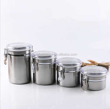 Wholes Purple Stainless Steel Air Coffee Canister Set