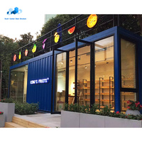 20ft prefab container store in europe