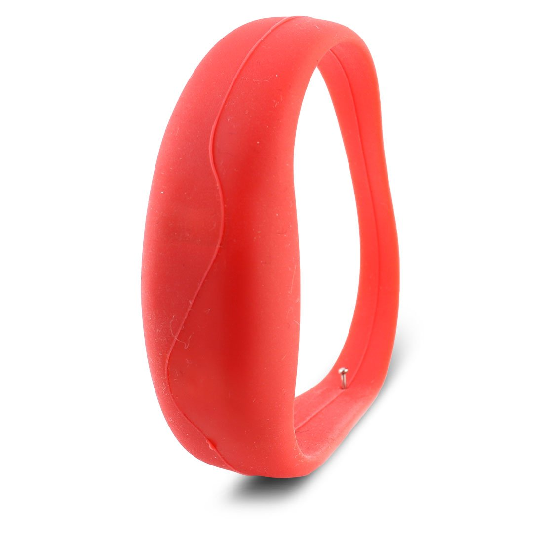 uxcell Replacement Red Silicone Wristband Moving-Lighting LED Flashing Strap Band