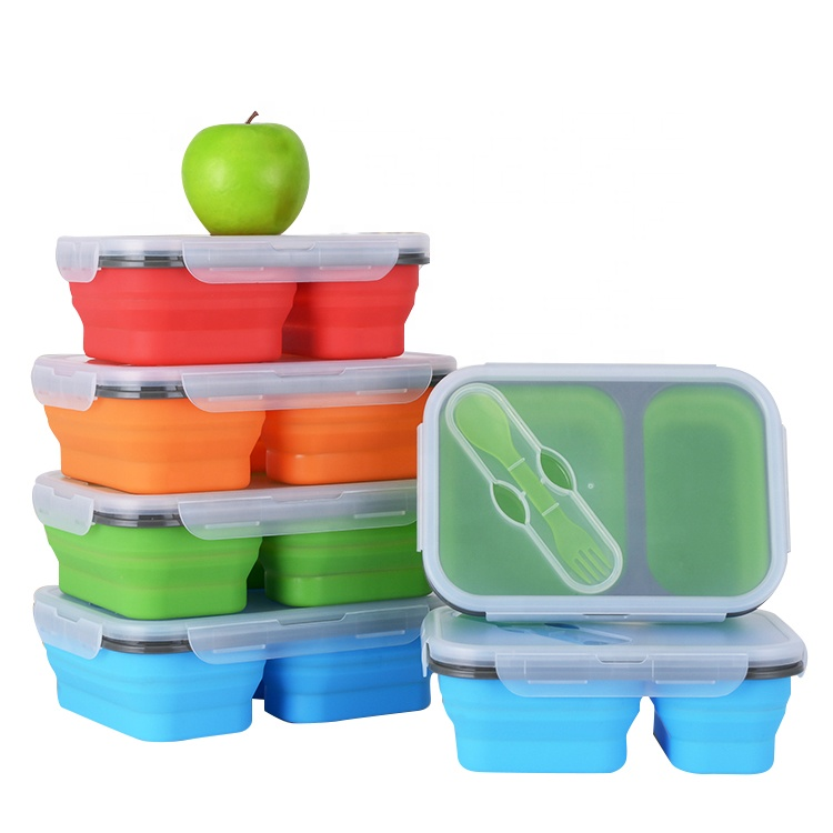 Oven veilig silicone voedsel opslag container duurzaam lunch box met Deksel