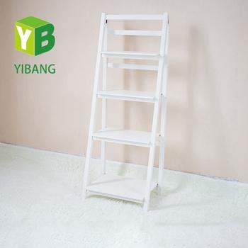 Yibang White Wood Livingroom Ladder