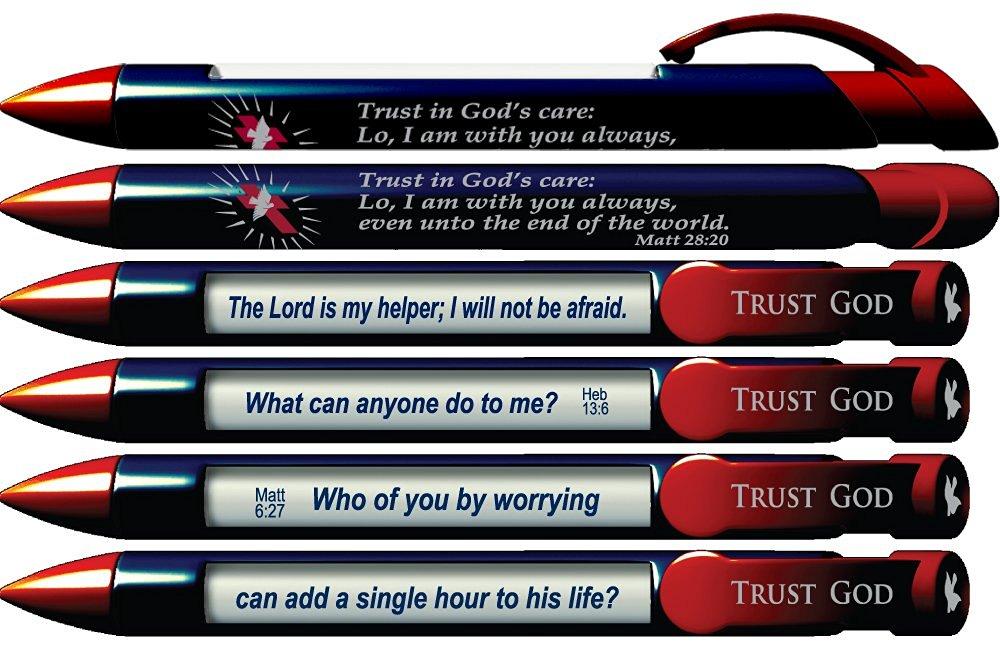 "Greeting Pen""Trust God"" Scripture Pens, Scripture Verses with Rotating Messages, 6 Pen Set (36035)"