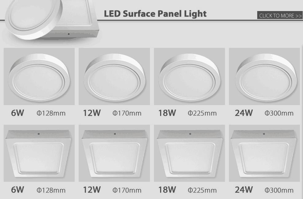 12 Watt Led Panel Light 12v Dc Led Light Panel Led Surface Panel ...