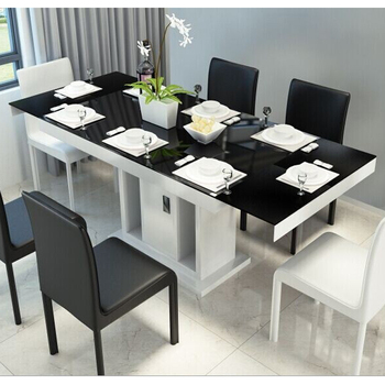 Tempered Glass Top Dining Table Set Extendable Modern Dining Table View Glass Top Dining Table Set Liansheng Product Details From Foshan Liansheng Furniture Co Ltd On Alibaba Com
