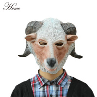 HOME brand Adult costume rubber latex sheep goat head animal mask for party