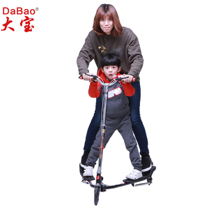 3 wheel stand up tri sport scissor kick foot scooter for adult or child