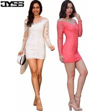 JYSS Autumn new round neck long sleeves embroidered Slim sexy dress women 81169#