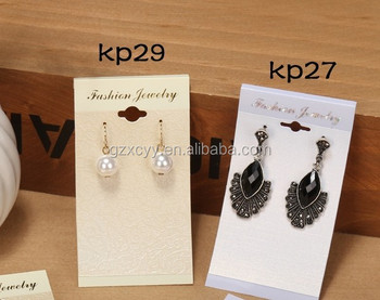Factory Price Paper Cardboard Earring Display Cards