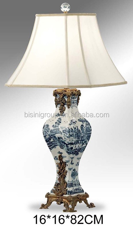 Retro Vintage Spanish Style Decorative Brass Alabaster Table Lamp ...