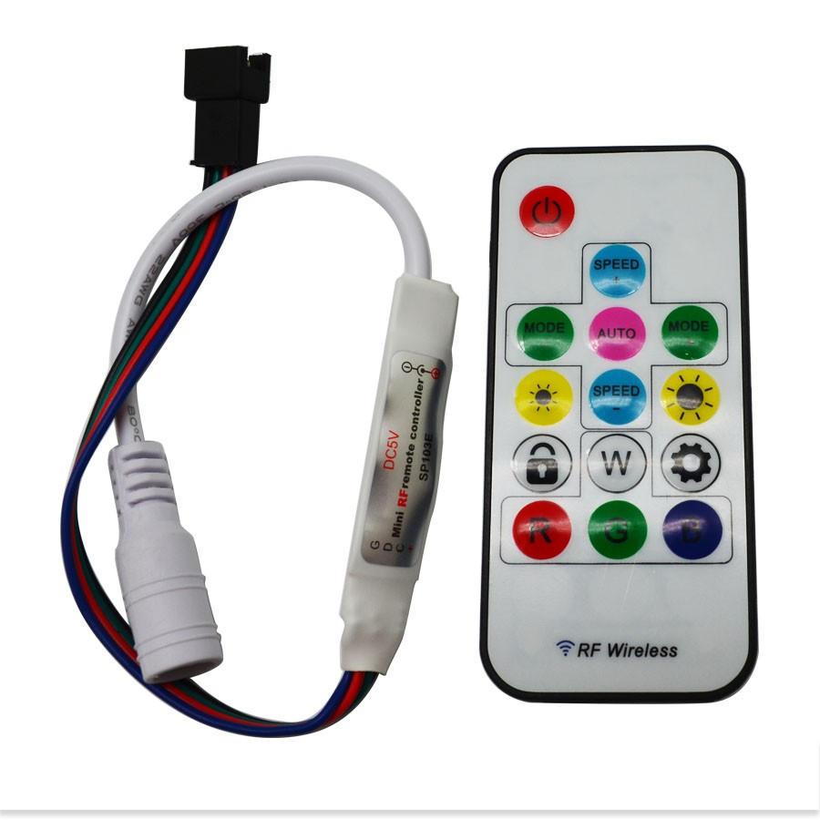 Controller Wireless Remote Sp103e Rf Dc5v Dc12v 15m Distance For Led Strip Driver Circuit Ws2812 Ws2811 Sk6812 One