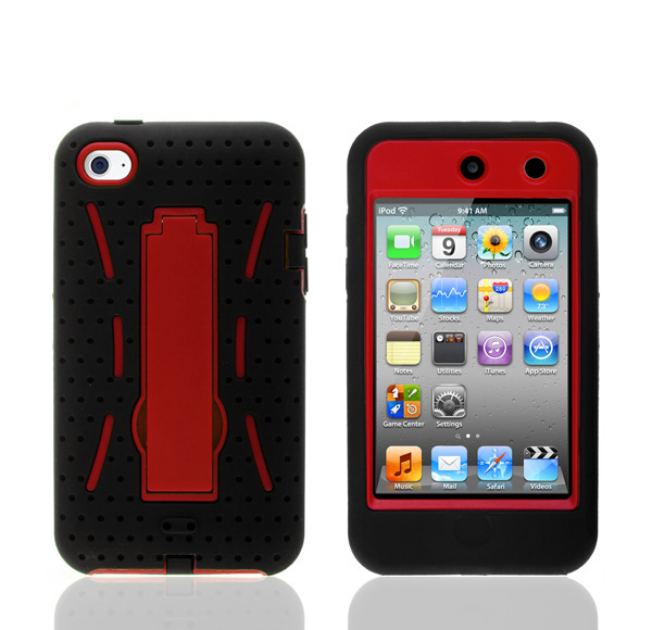 Hot Sale hybrid Robot Armor kickstand mobile phone case for apple ipod touch 4
