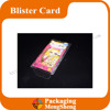 Wholesale plastic packaging&clamshell blister package with printed cardboard