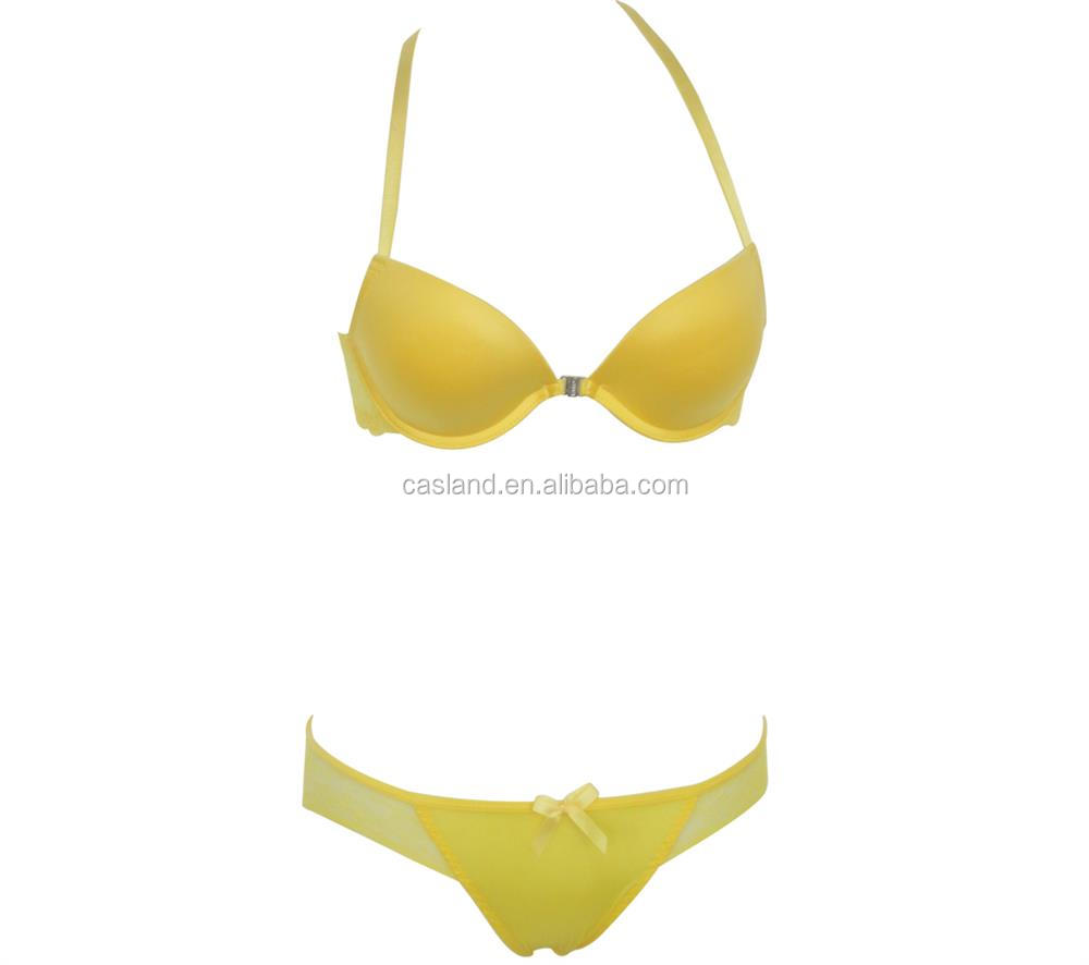 Padded Bra Set Lovely Young Ladies Bra Panty New Design