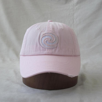 590a4c02708 custom applique embroidery enzyme stone washed distress frayed brim solid  cotton twill baseball cap hat