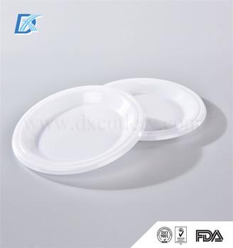 Food Grade Pp Cheap Wholesale White Hard Plastic Disposable Plates ...