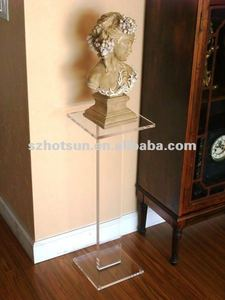 Decorative sculpture floor stand
