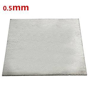 Titanium Alloy Plate TC4/GR5 Titanium Plate 0.5x100x100mm