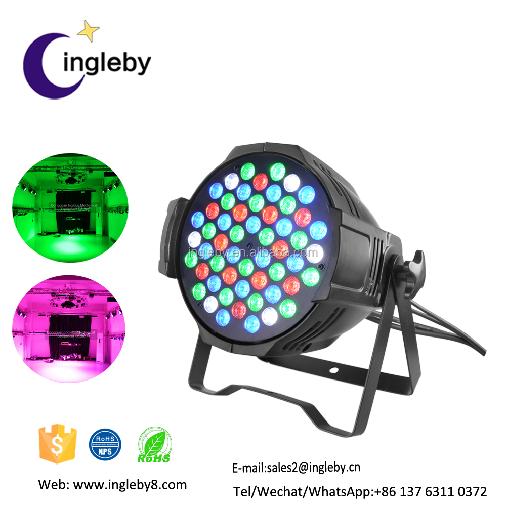 Cheap Price Waterproof Led Par Can 54leds 3w RGBW DMX Outdoor/indoor Led Par Light