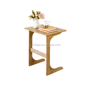 2017 new design bamboo /wood cafee table with u foot