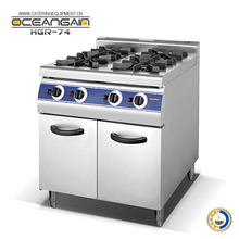 HGR-74 4-burner chinese gas range with cabinet