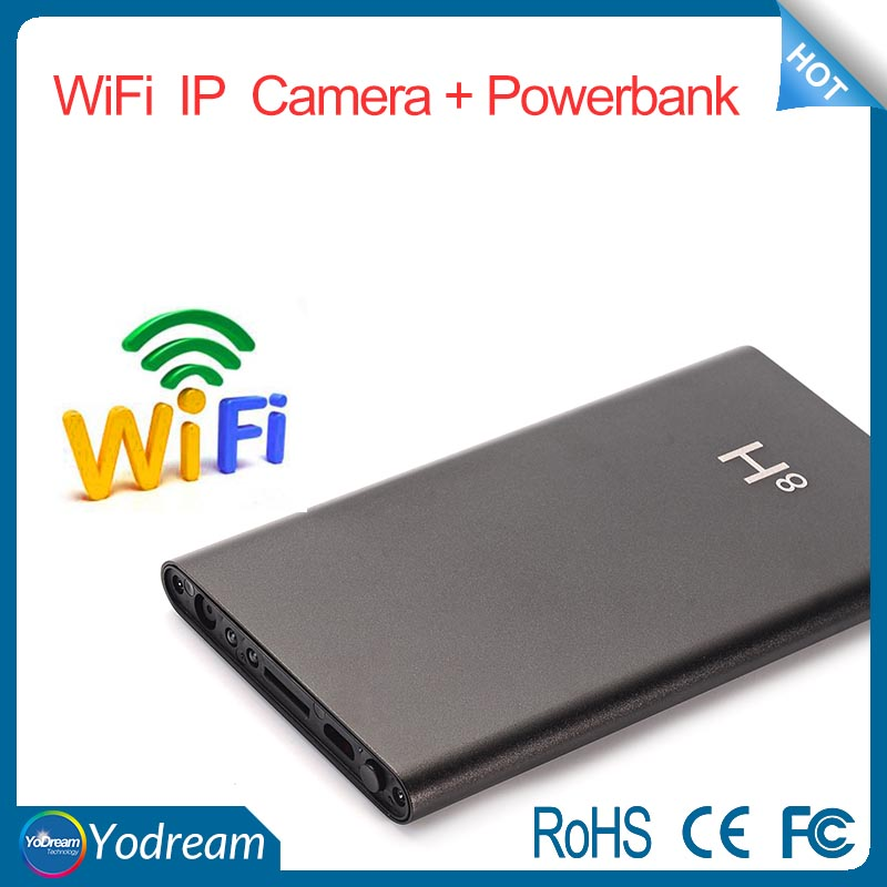 H8 mobile phone powerbank wifi IP camera 1080P P2P covert surveillance Camera spy APP remote control night vision cam
