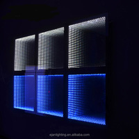Modern IP44 rated 3D Wall Mounted LED Fancy Infinity Mirrors