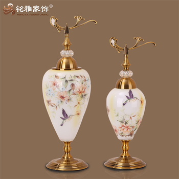 Luxury home decor gift craft decorated flower stained for Gift craft home decor