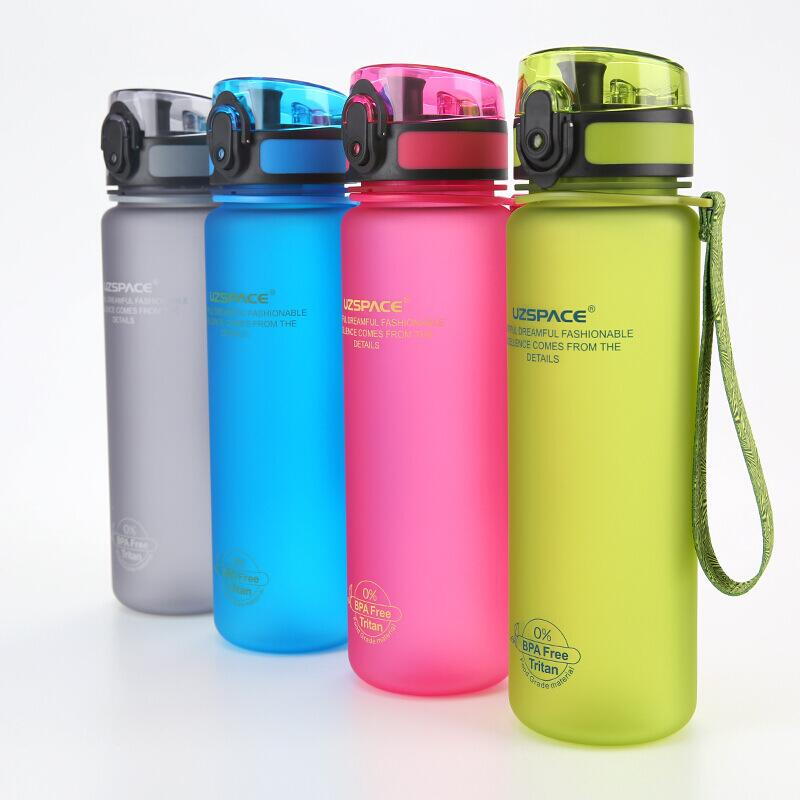 Hot selling plastic sports water bottle bounce cap frosted bottle custom on Amazon