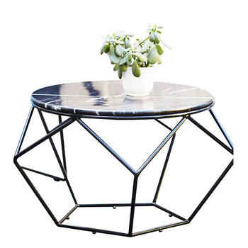 Contemporary Living Room Coffee Tables Furniture Wrought Iron Frame Sofa  End Table Small Round Marble Black Coffee Table - Buy Small Round  Table,Black ...