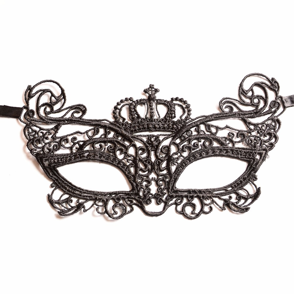 Cheap Black Lace Crown Funny Masquerade Party Masks