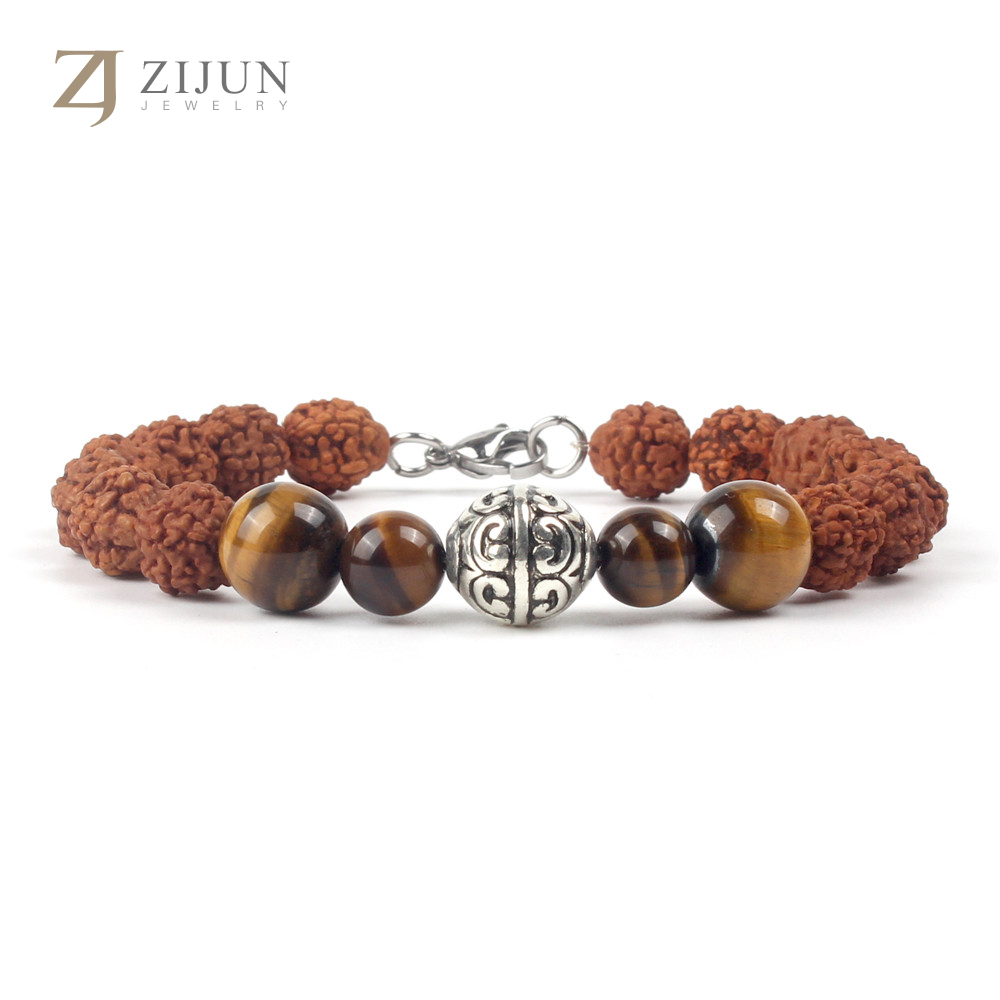 Hot sale Natural Nepal Bodhi Bracelet 5 Petal Beads Natural Stone Ethnic Style Jewelry Spot Wholesale