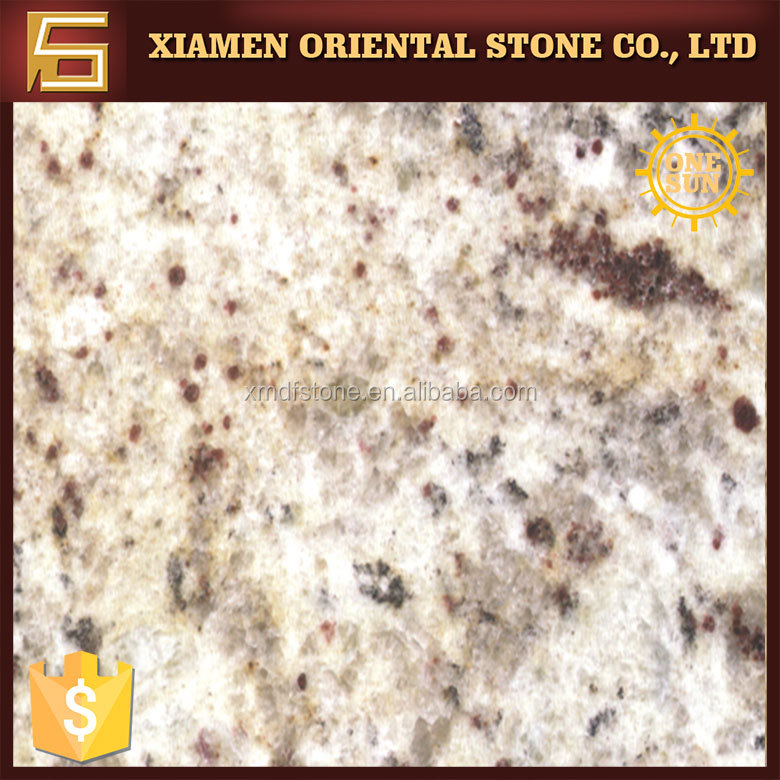 Giallo Ornamental Brazil yellow granite with black spots for project