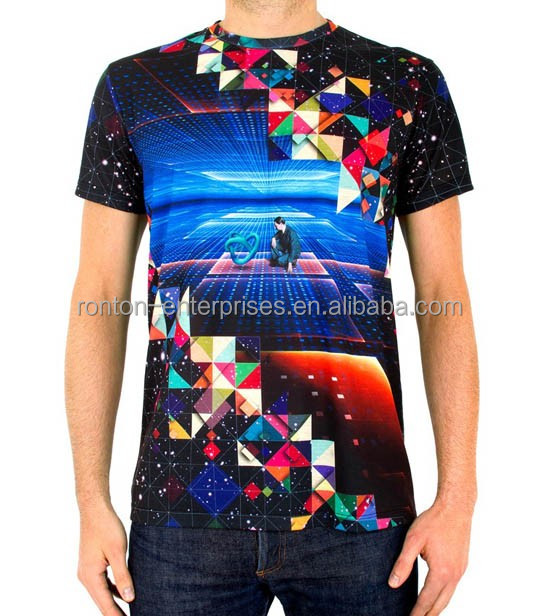 Latest design custom sublimation printed t-shirt for wholesale