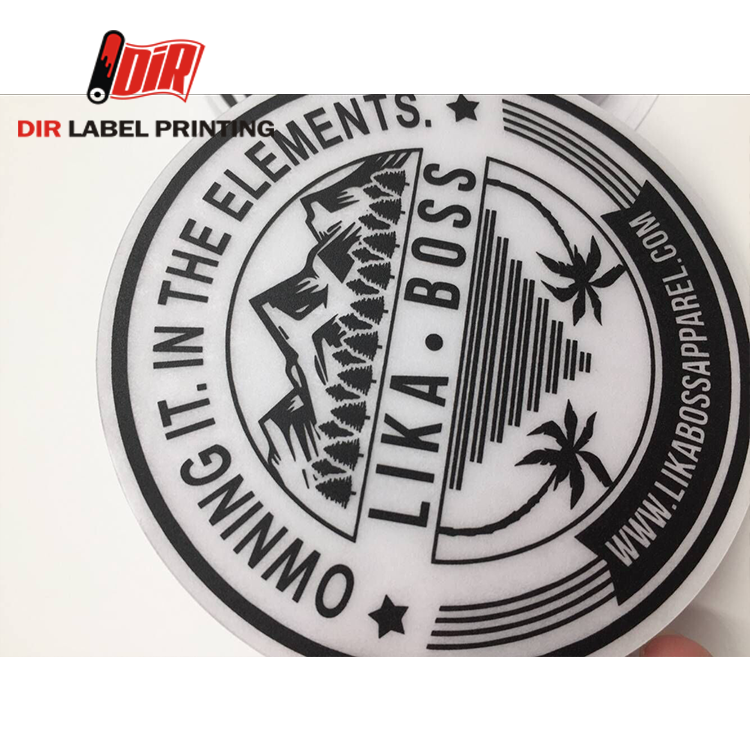 High quality self adhesive PVC PC Silkscreen printing custom logo stickers
