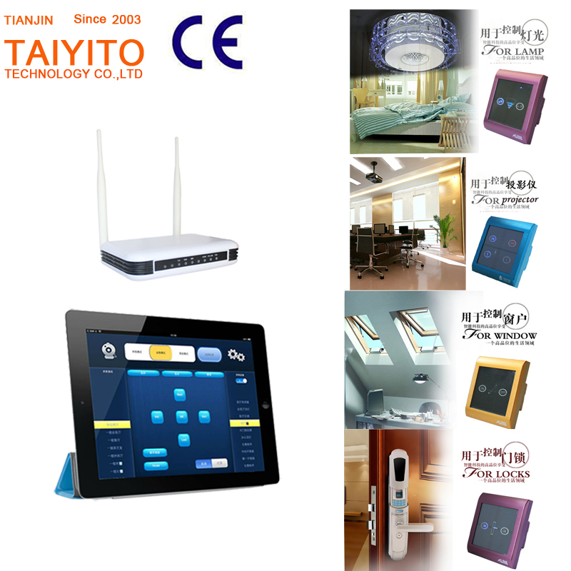 50Hz or 60Hz touch panel zigbee smart home automation demo kit for villa / home