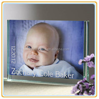 personalized baby keepsake glass block photo frame