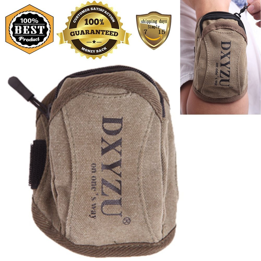 Fanny Waist Packs for Women Men Kids, 1 Pcs Small Water Bottle Belt Bag Multiple Hip Sack Fashion Pocket Pouch for Hiking, Sport, Travel, Running, Cycling, Climbing, Brown