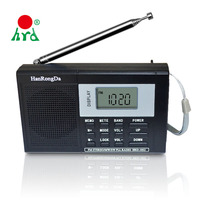 Rechargeable Digital Fm Am Mw Sw Lw Radios With Set Up 360 Degree Rod Antenna