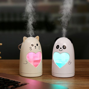 New heart LED humidifier usb desktop air innovations ultrasonic micro mist humidifier for car