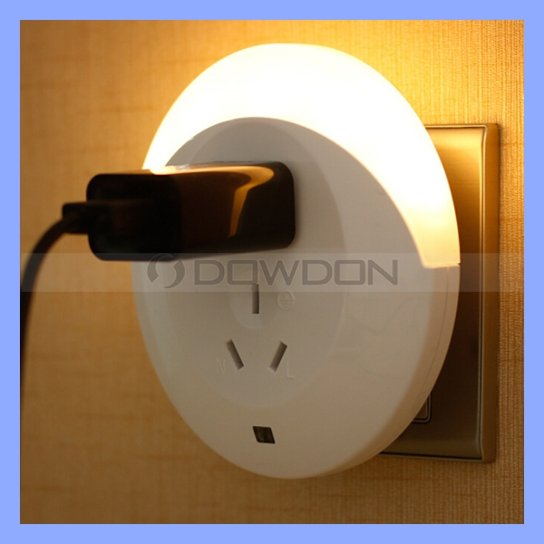 Round Motion Sensor Light with Socket Multifunction Indoor Use Children Baby Night Light