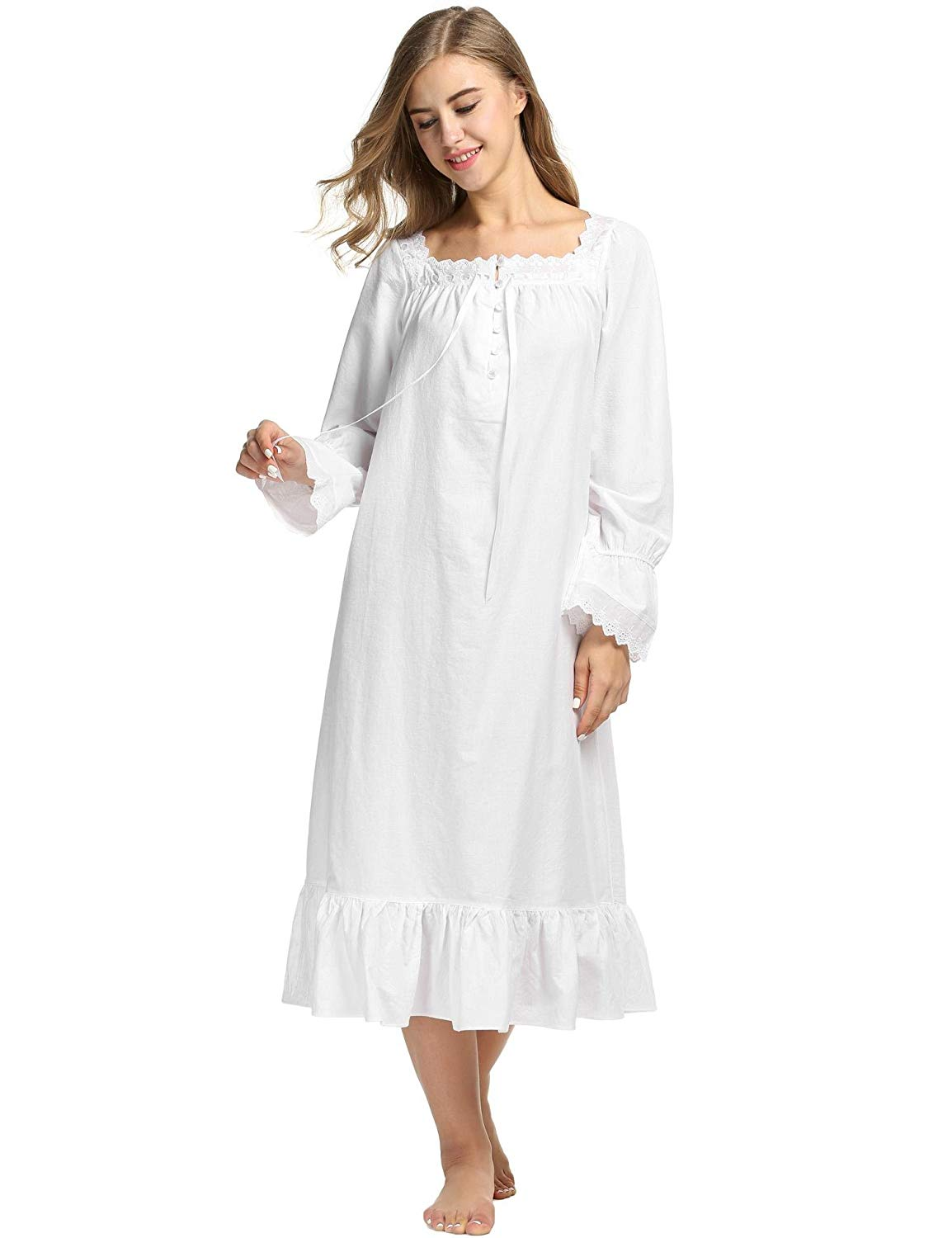 Get Quotations · Adidome Nightgowns Knit Nightgown Sleepwear Nightgowns    Sleepshirts 23fd82181