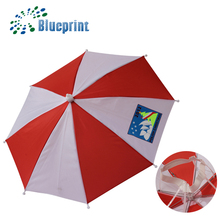 Cheap customized promotion umbrella hat with no handle