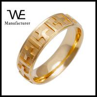Handmade 14k Yellow Gold Men's Cross Design Wedding Band Ring