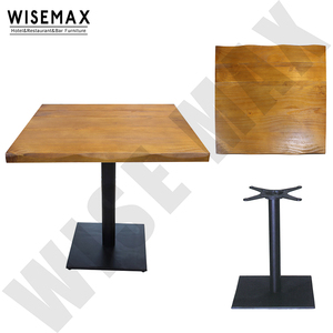 Restaurant table furniture Antique style high quality durable solid wood table top restaurant dining tables and chairs