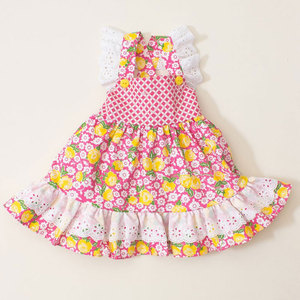 2018 new styles lace spring floral print little girl dresses