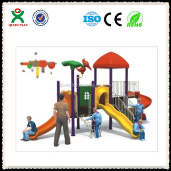 Outdoor Playground Equipment Guangzhou/kids Plastic Play Yard/fibreglass  Products QX B0098