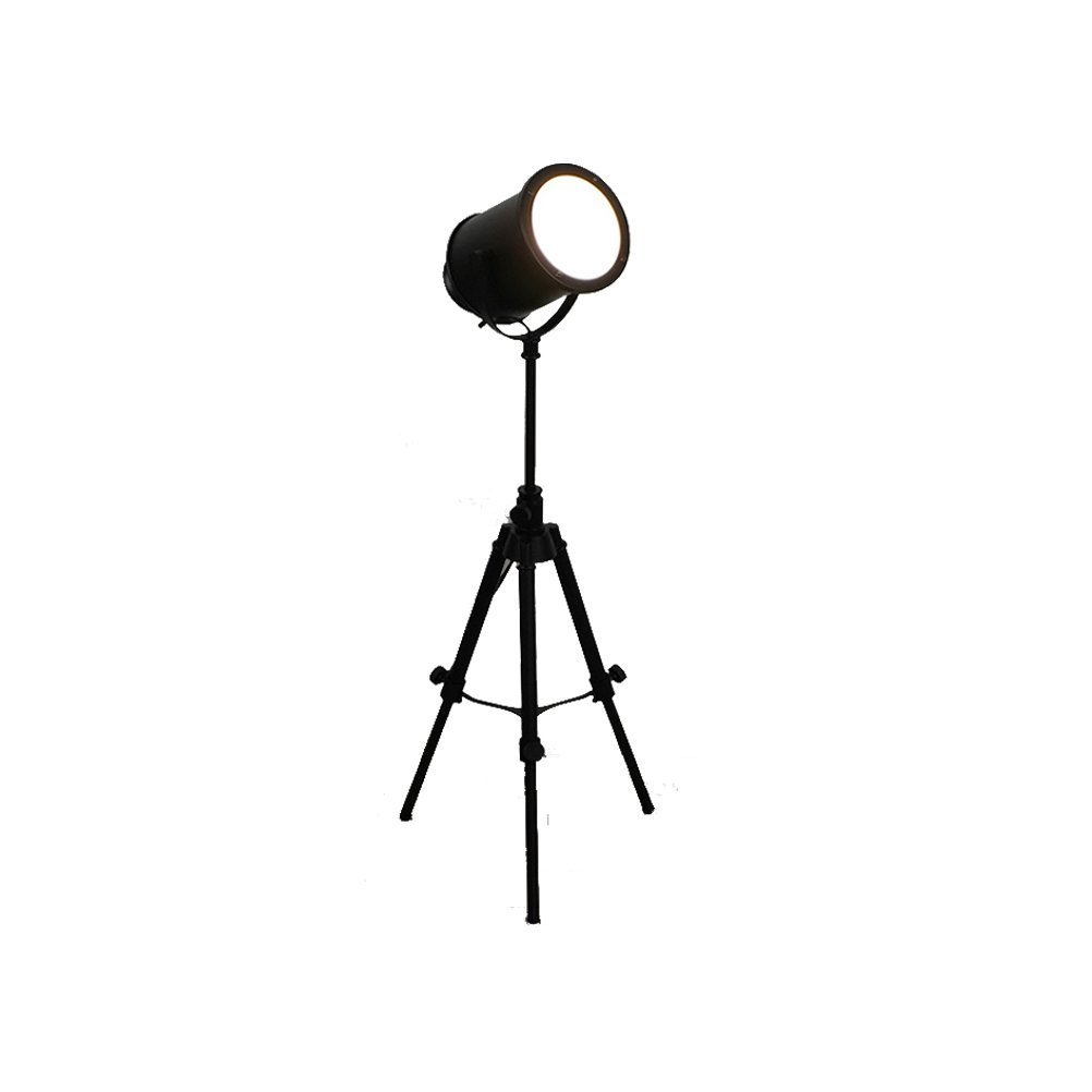 WAN SAN QIAN- E27 Retro Industrial Style Creative Adjustable Legs Personality Black Glass Lift Cast Floor Lamp Floor Lamp