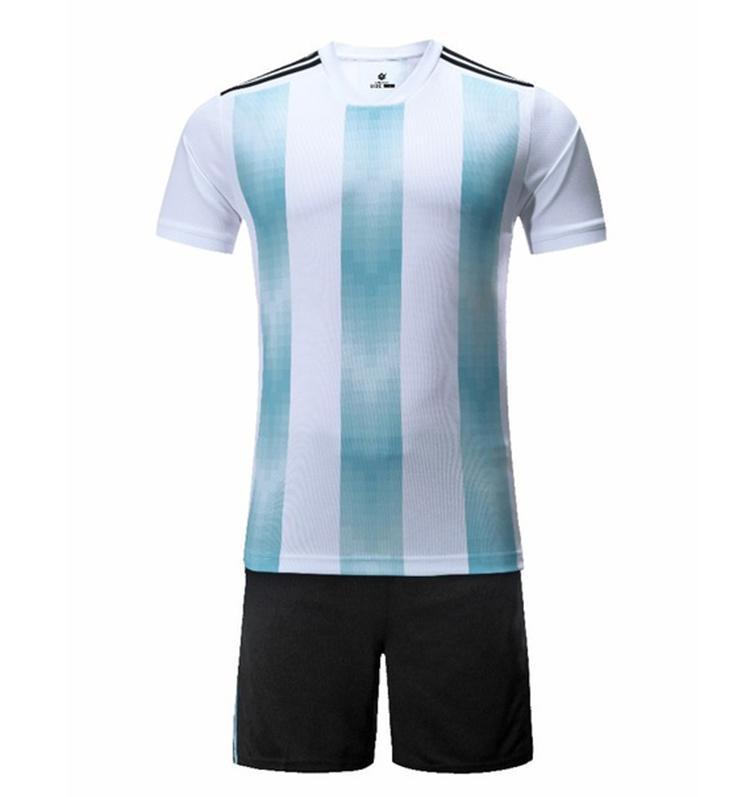 ff511c849dd 2018 World Cup Argentina Home Court Strips Jersey Messi Short Sleeve Jersey  Thai Version Short Sleeve Jersey Shirt