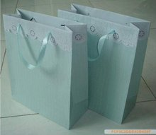 logo printed plain luxury white kraft paper shopping bags
